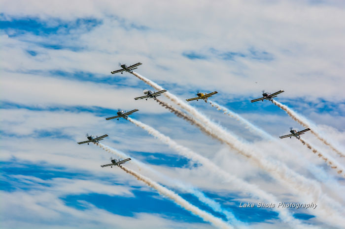 Flying In Formation At The Air Show