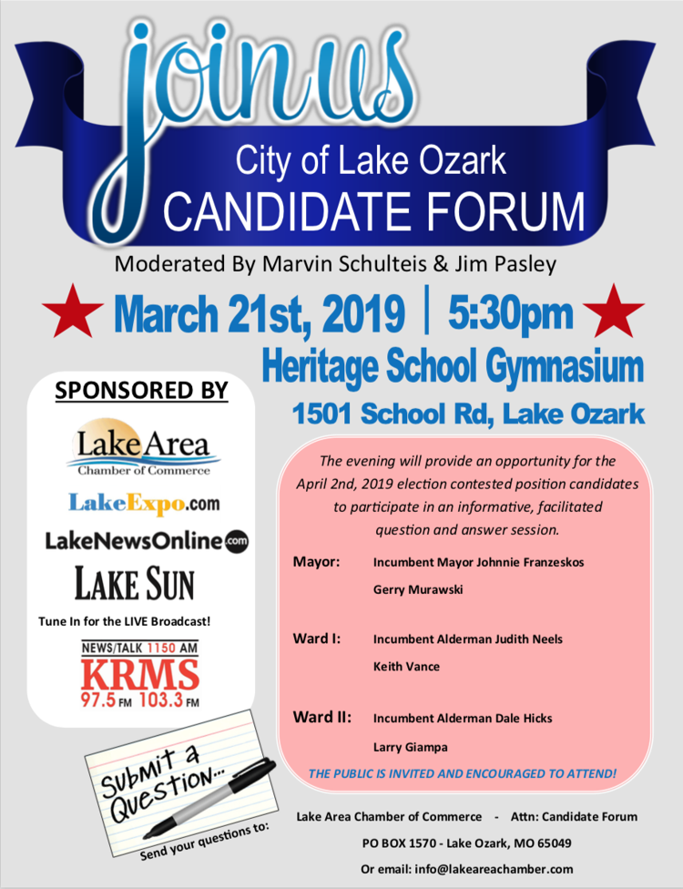 City Of Lake Ozark Candidate Forum | Upcoming Events