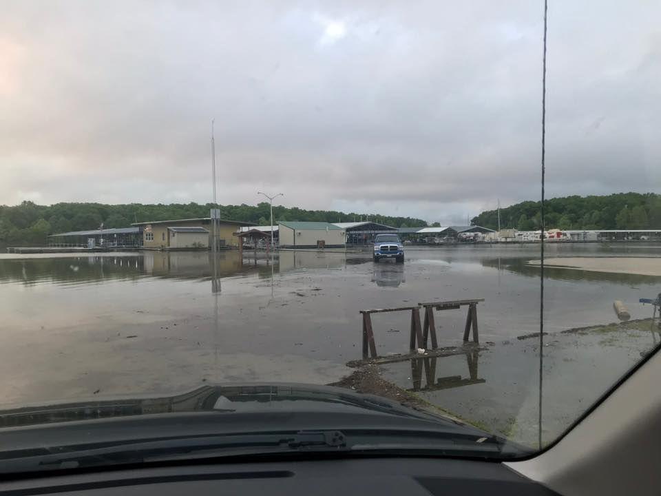 Flooding at Truman State Park Marina