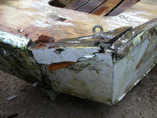 Boat repair alternative transom deck and stringer boat repair rotting boat transom solutioingenieria Image collections