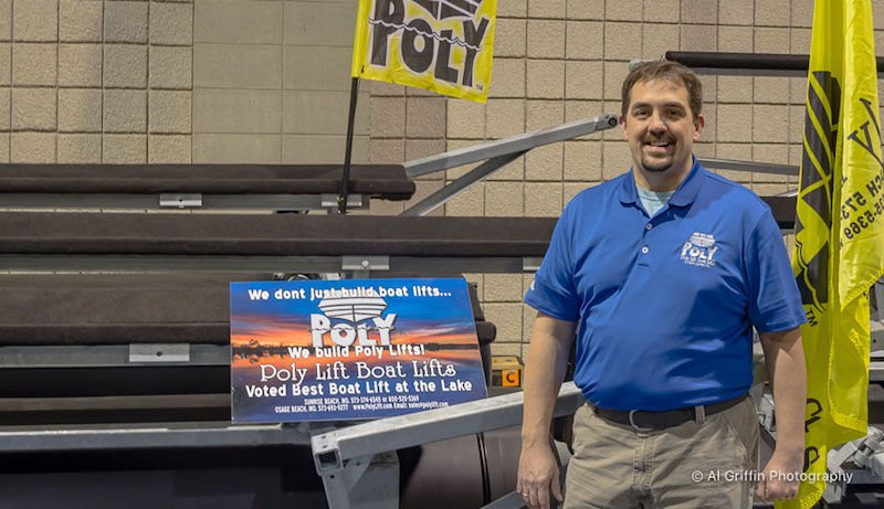 Charlie Noland & Poly Lift Boat Lifts At Overland Park Boat Show