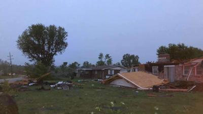 Neighborhood Badly Damaged By Eldon Tornado