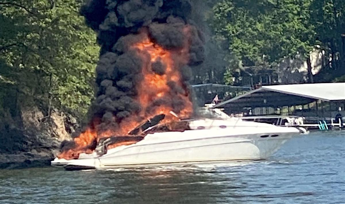 Boat Explosion Near Grand Glaize Bridge