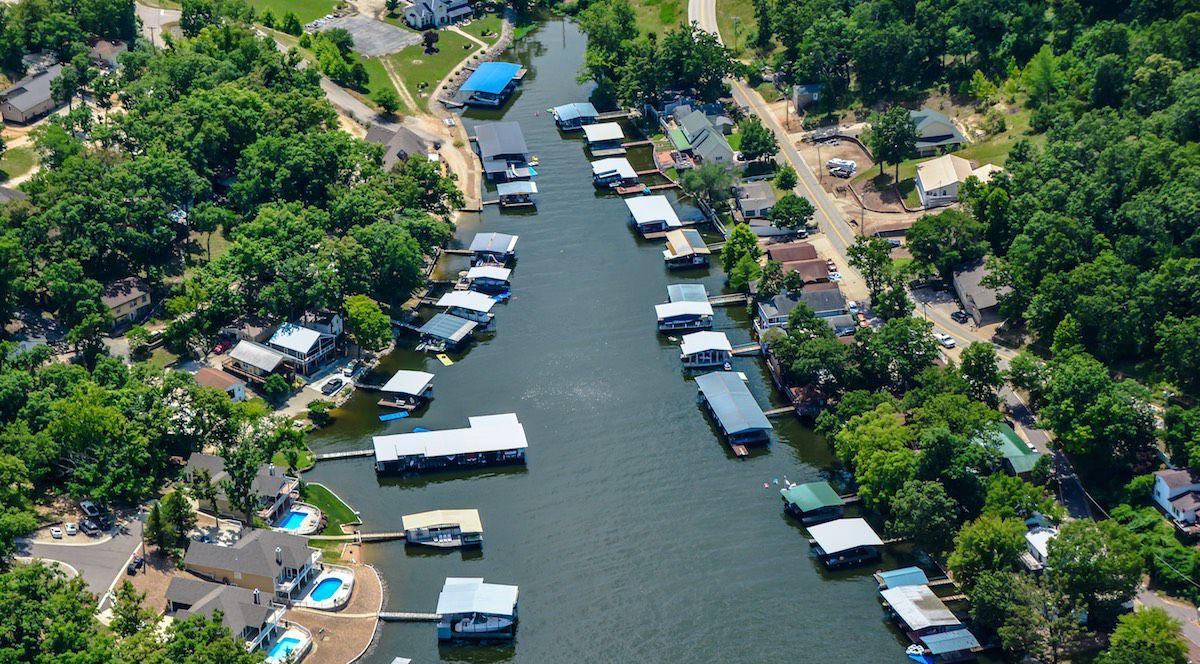 Lake Of The Ozarks Docks In A Cove