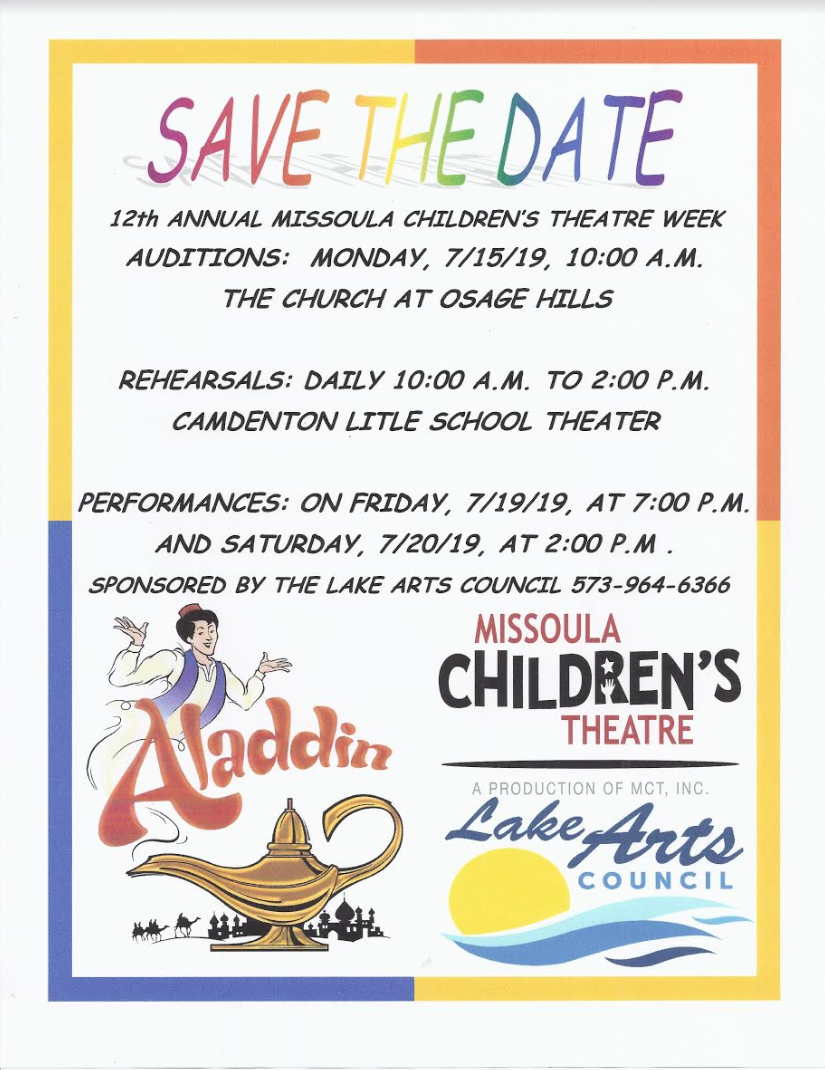 Aladding Auditions Save The Date