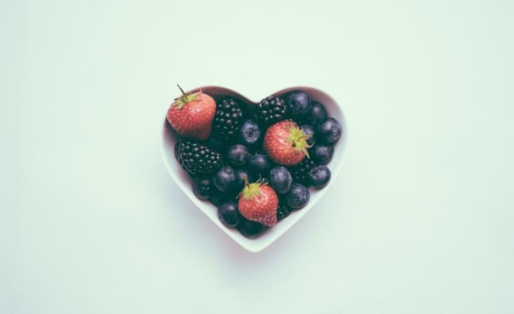 Heart-Shaped Bowl with Berries