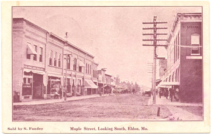Maple Street, Looking South - Eldon, Mo., 1909
