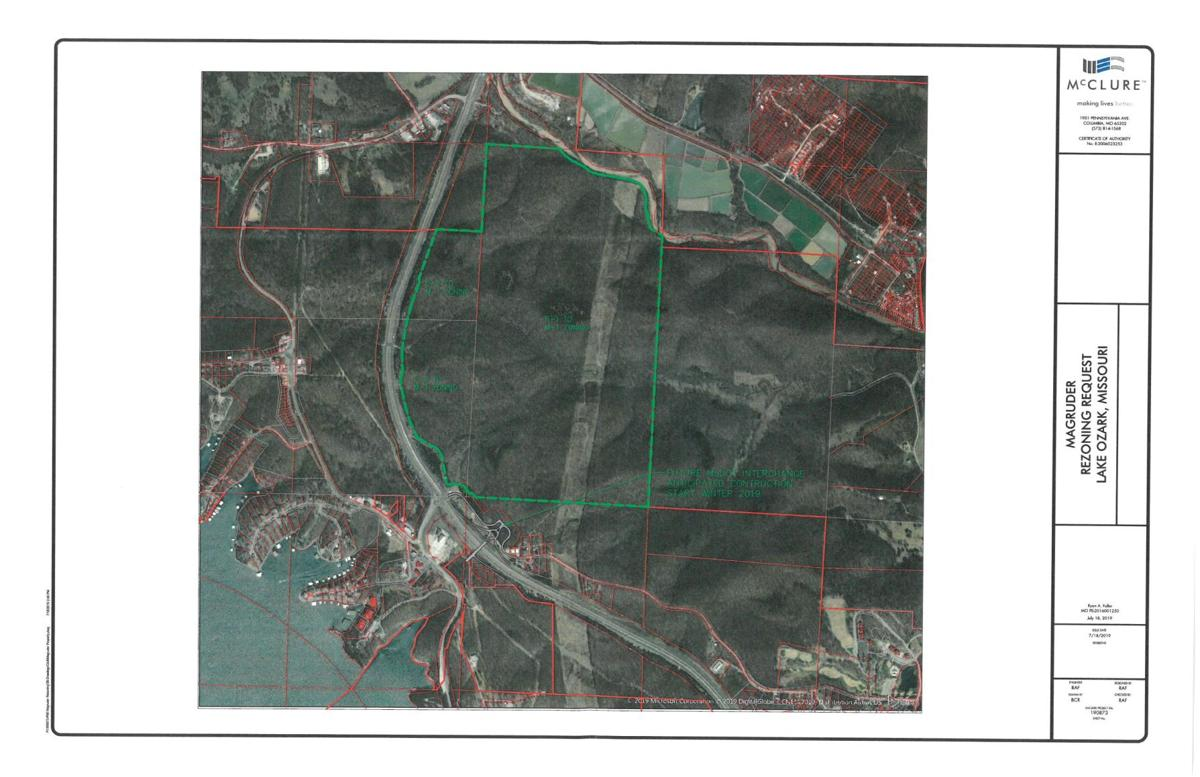 Planned Quarry On Highway 54 - Green Outlined Area