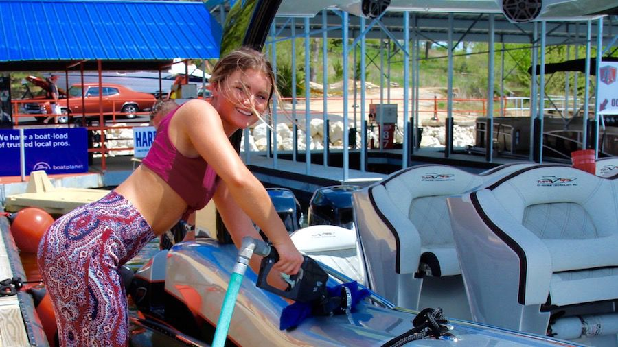 Boat Gas Fuel Fill Up