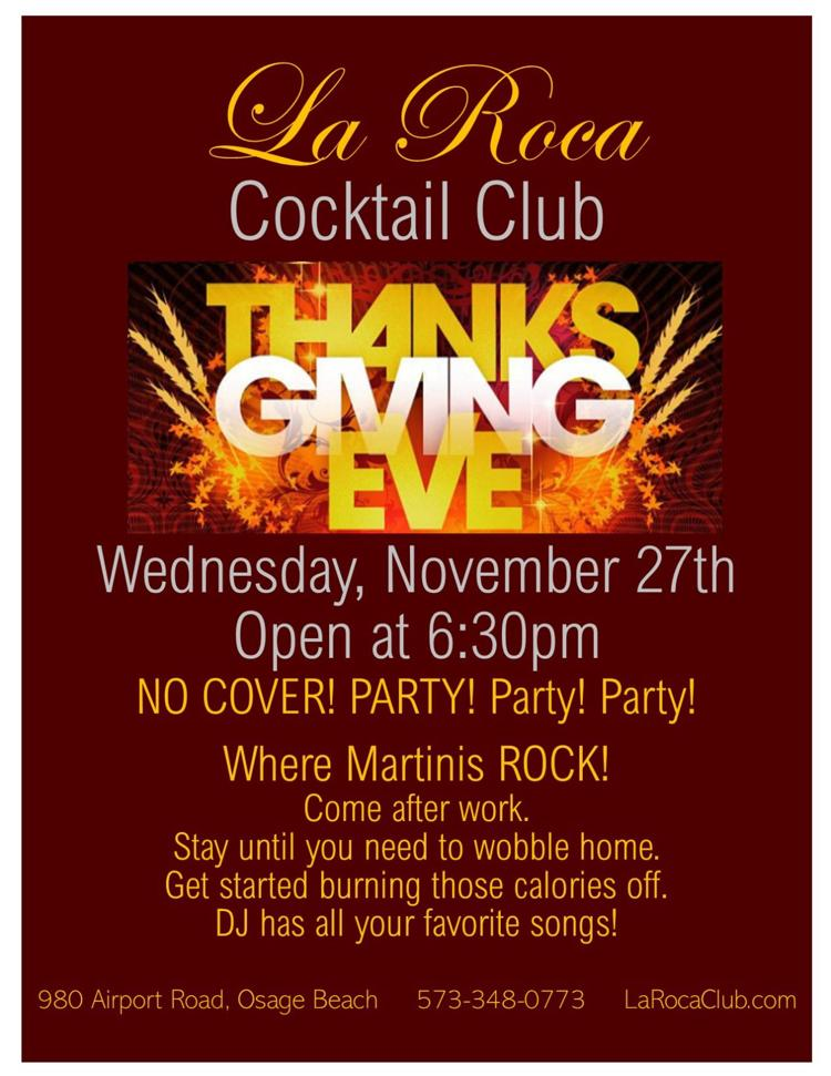 La Roca Club Thanksgiving Eve Party