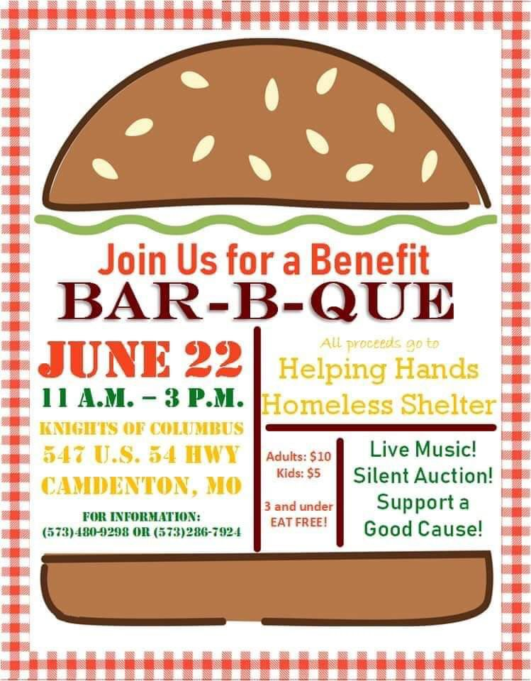 Benefit Bar-B-Que For Helping Hands Homeless Shelter | Charity