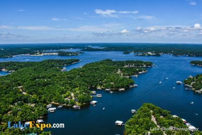 Lake Of The Ozarks - Aerial - Waterfront Homes