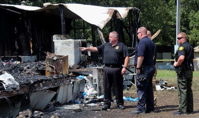 Investigating Mobile Home Fire Near Camdenton