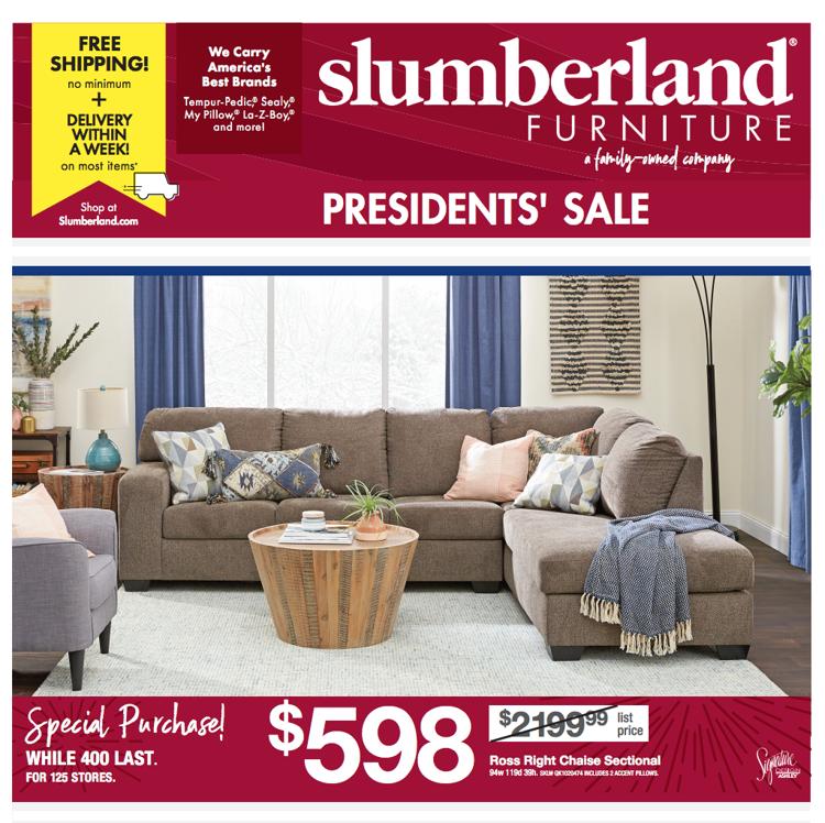 Slumberland Presidents Day Sale