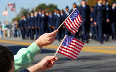 Veterans Parade Flags