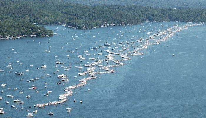 Water patrol sets boundaries for shootout no wake zone for Fishing report lake of the ozarks