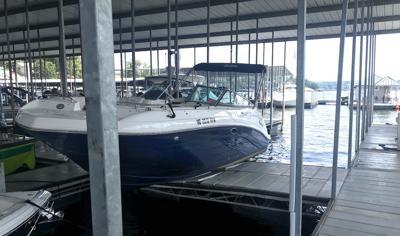 Boat Crashes Onto Dock Walkway