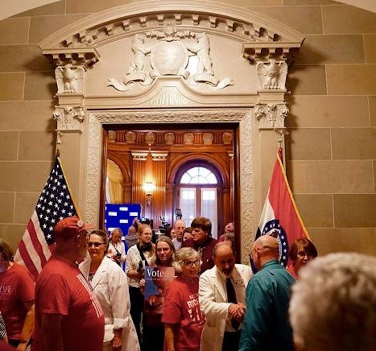 Leaving The Missouri Senate Chambers