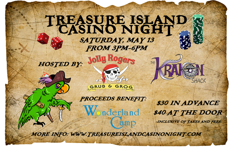 Iets Nieuws Treasure Island Casino Night Benefit for Wonderland Camp | Charity #ZE48