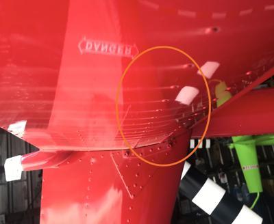 Dust Streaks On Underside Of Lake Ozark Helicopter