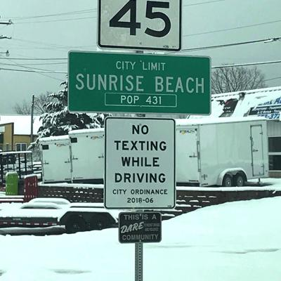 No Texting While Driving Signs In Sunrise Beach