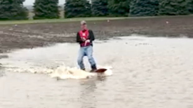 Nebraska farmer goes wakeboarding in his flooded cornfield for Kansas city star fishing report