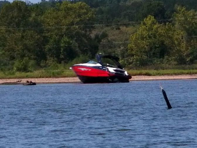 A Boat That Seemed Hopelessly Grounded In A Lake Of The Ozarks Cove Is Gone, Thanks To Rain