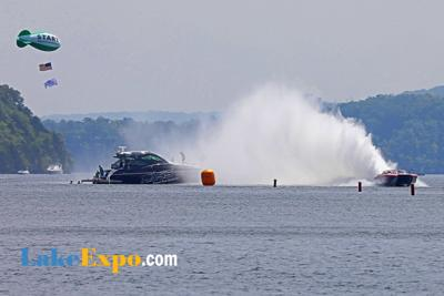Shootout Start Boat Gets Soaked