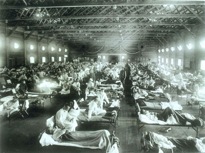 1918 Spanish Flu At Camp Funston, Kansas