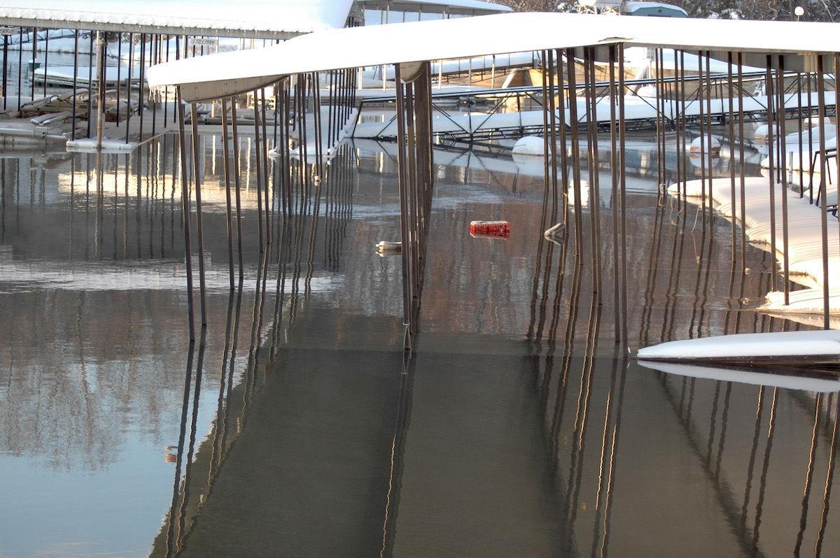 Dock Underwater From Heavy Snow Load In 2006