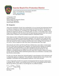 In resignation letter sunrise fire chief cites campaign of sunrise beach fire protection district chief dennis reillys resignation letter expocarfo Image collections