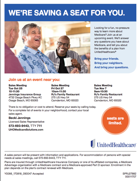 United Healthcare Medicare Meeting | Upcoming Events | lakeexpo com