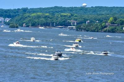 Busy Boating Day On The Lake