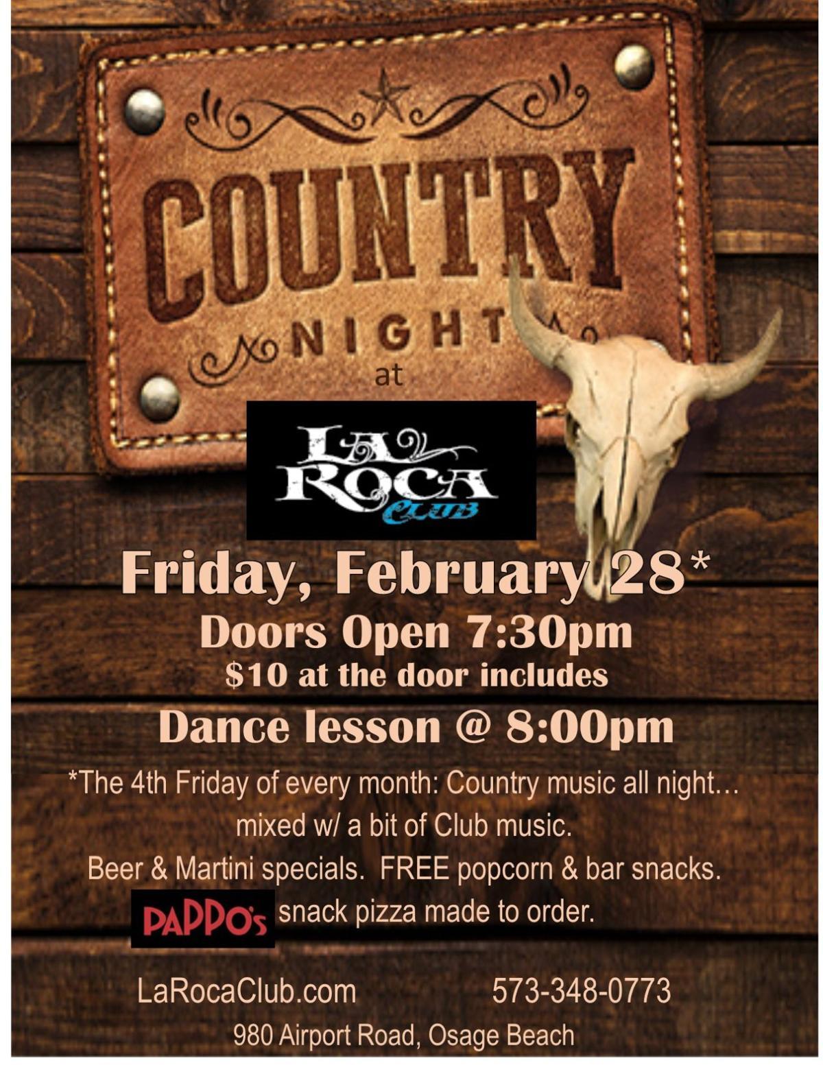 Feb 28 La Roca Country Night