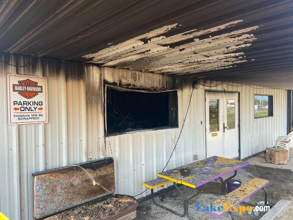 Fire-Damaged Porch, At Midwest Drifters Motorcycle Club's Lake Ozark Chapter Clubhouse