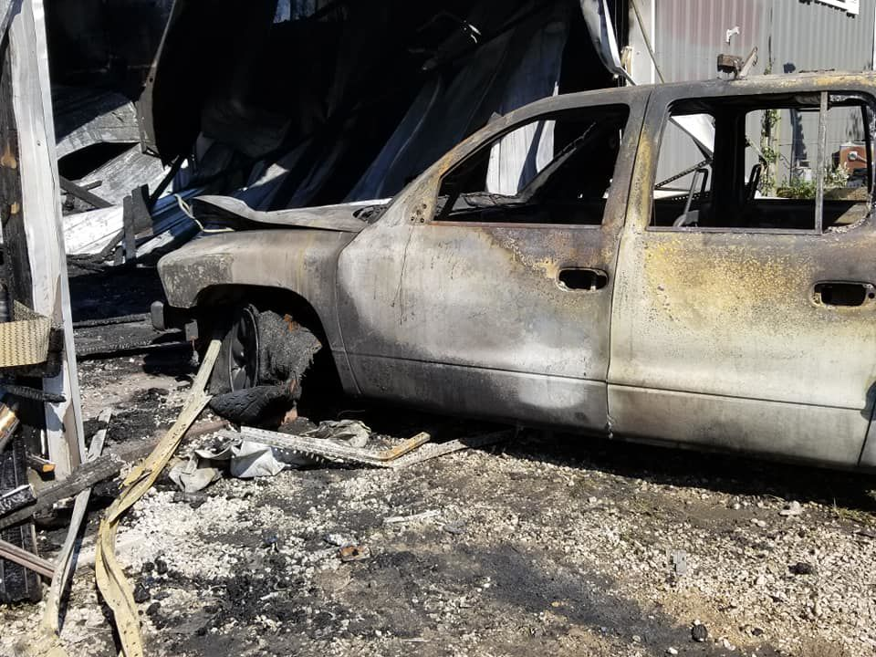 Home & Vehicle Destroyed By Fire