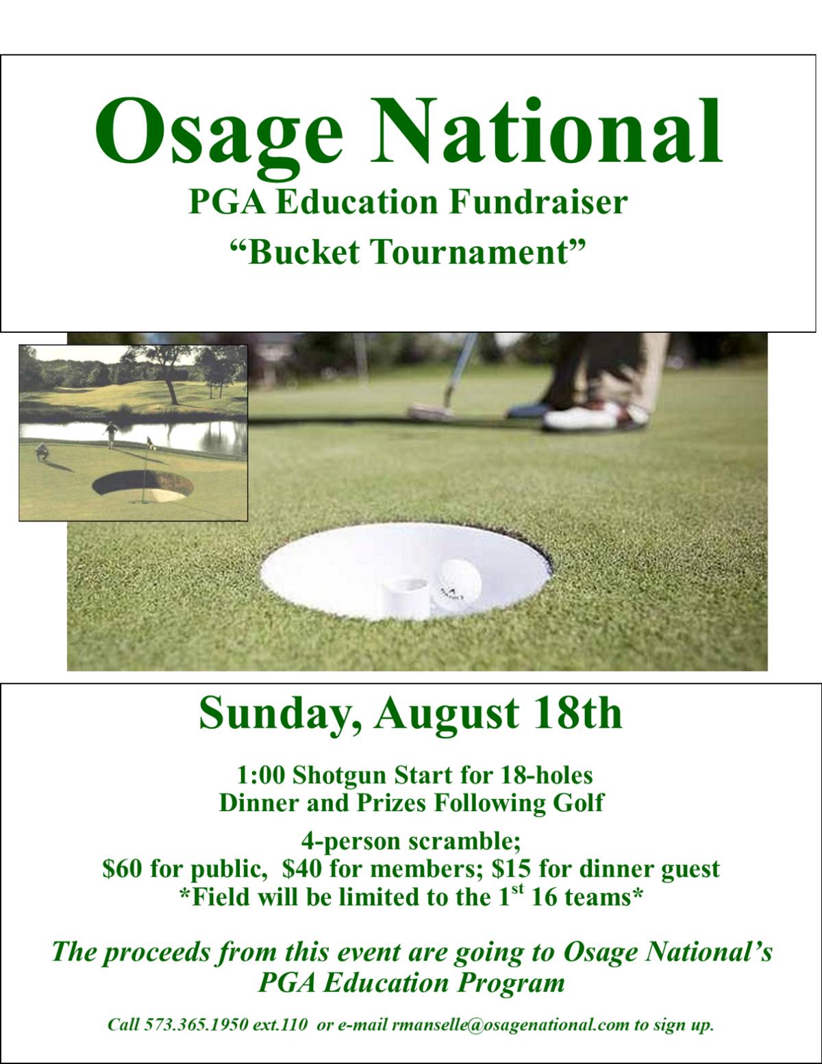 Bucket Tournament Flyer