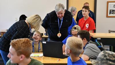 Missouri Governor Mike Parson Visits The Inaugural Invention Jamboree In 2019 At Lake Of The Ozarks