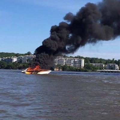 Boat Fire At 12.5 Mile Marker