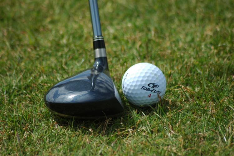 Golf Ball and club