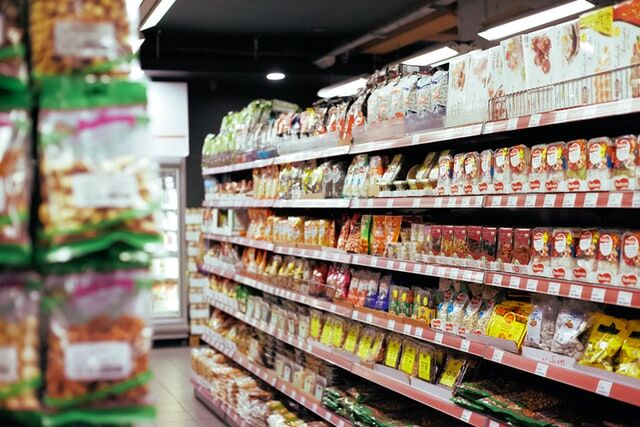 Grocery Store Aisle - Royalty Free Image