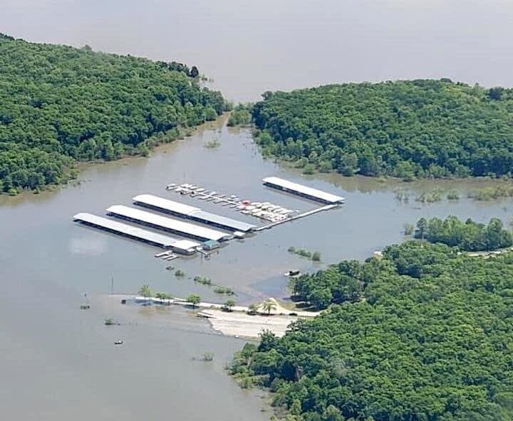 Truman State Park Marina - Flooded