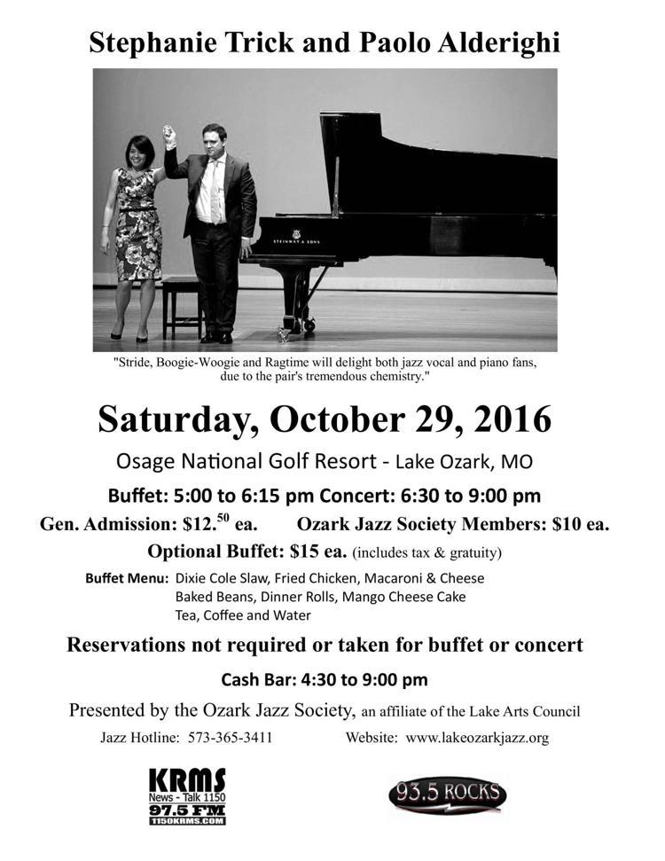 Ozark Jazz Society Program with Stephanie Trick and Paolo on