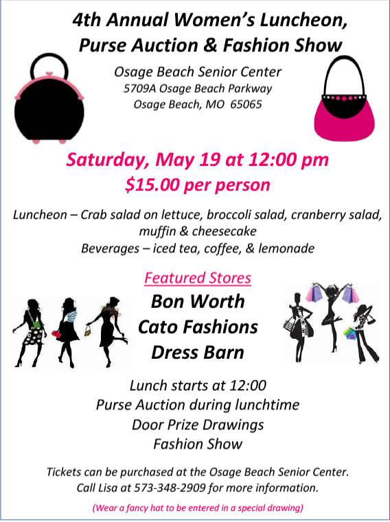 4th Annual Women S Luncheon Purse Auction And Fashion Show Family Friendly Lakeexpo Com