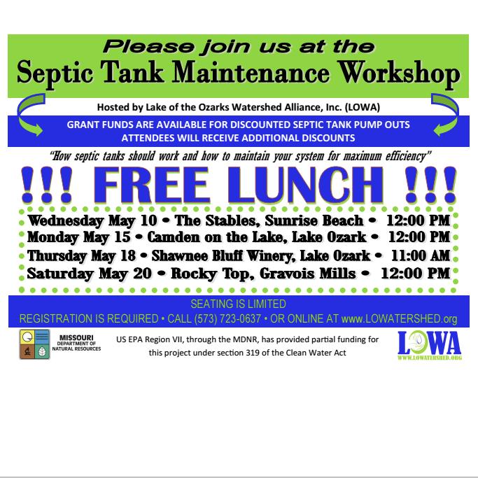 lowa septic tank maintenance workshop and free lunch - Septic Tank Maintenance