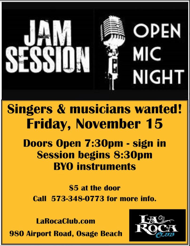 Nov Jam Session Full Flyer