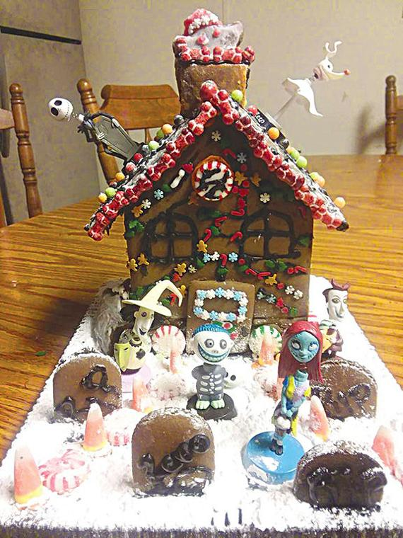 recently matthew champion was honored by his school for his exemplary work in making the most creative gingerbread house with the theme of nightmare before - Nightmare Before Christmas Gingerbread House