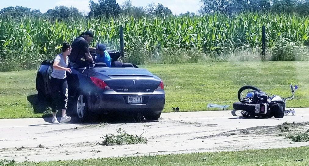 Motorcycle-car wreck