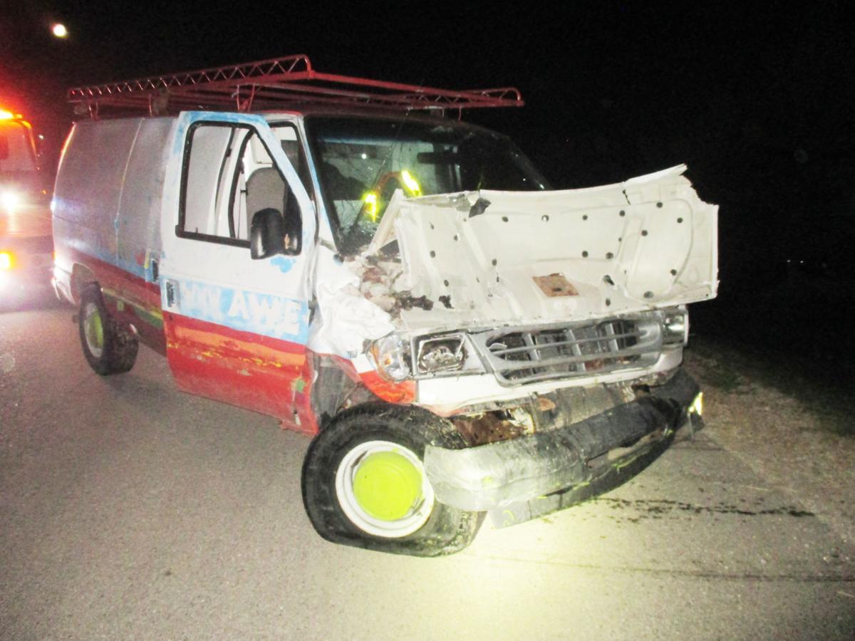 Police chase crash vehicle