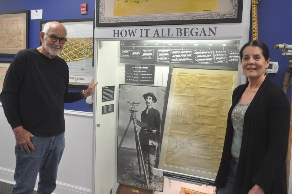 James Davis and Janet Ewing museum map exhibit